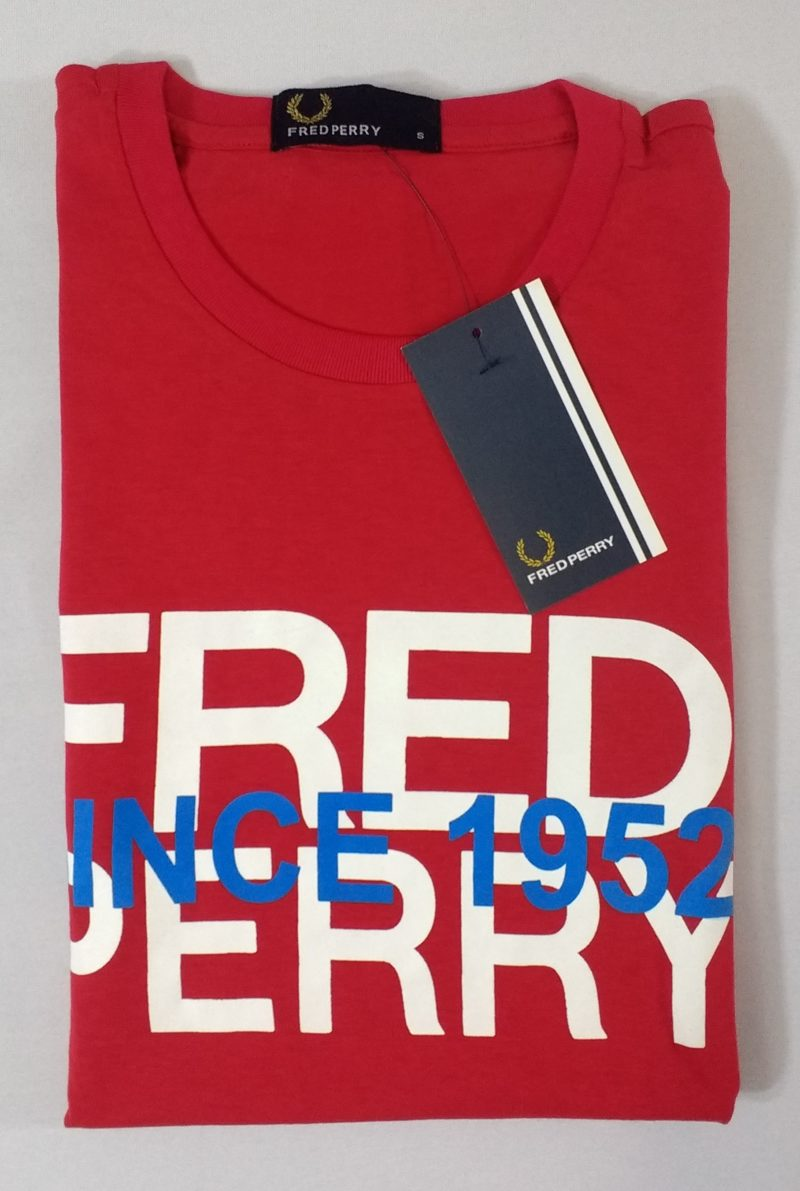 Camiseta Pima Fred Perry Estampada 11