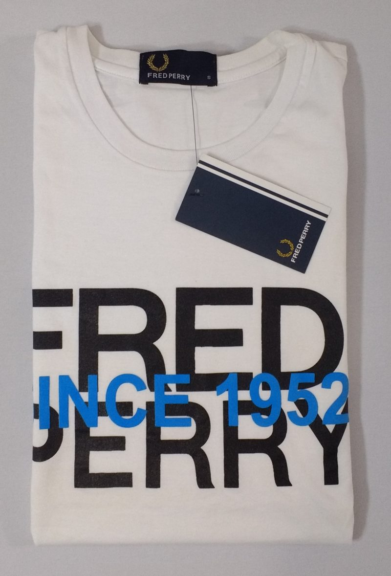 Camiseta Pima Fred Perry Estampada 3