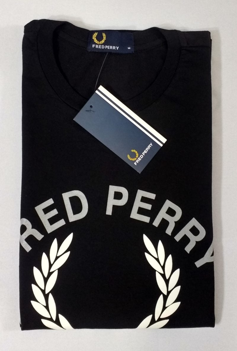 Camiseta Pima Fred Perry Estampada 12