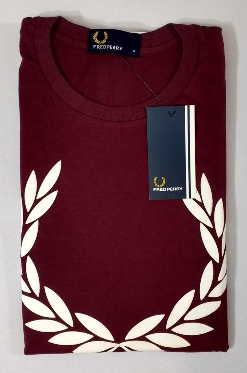 Camiseta Pima Fred Perry Estampada 9