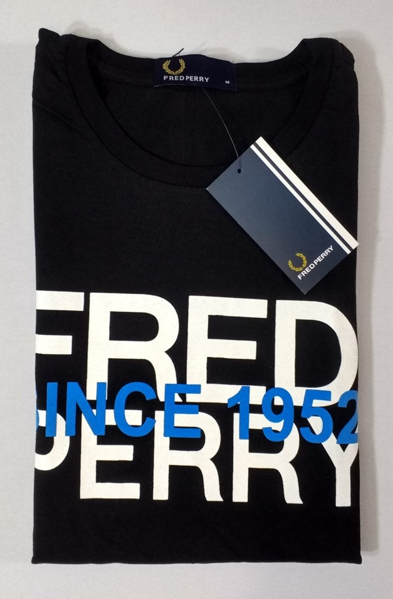 Camiseta Pima Fred Perry Estampada 7