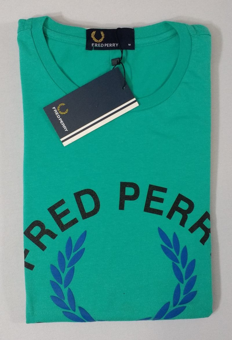 Camiseta Pima Fred Perry Estampada 14