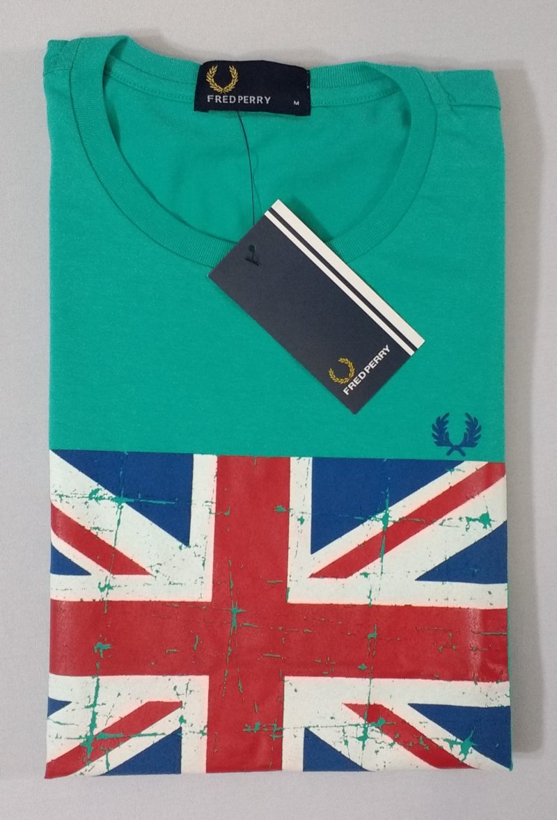 Camiseta Pima Fred Perry Estampada 8