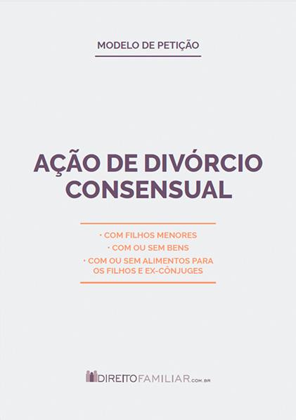 Modelo de Petição de Divórcio Consensual com Filhos