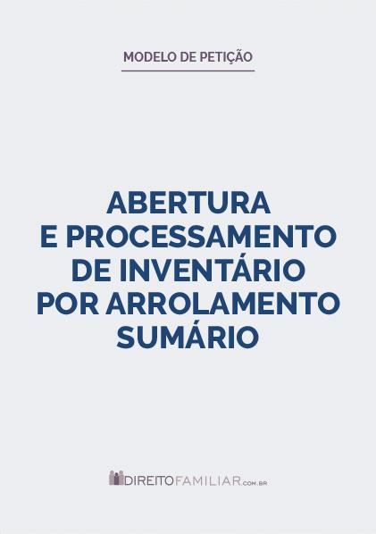 Modelo de Petição de Inventário por Arrolamento Sumário