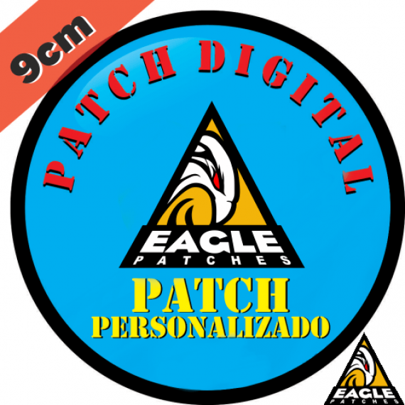 Patch Digital Personalizado Formato Redondo 9 cm