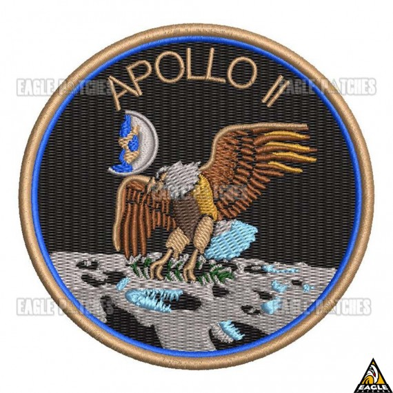 Patch Bordado Apollo 11