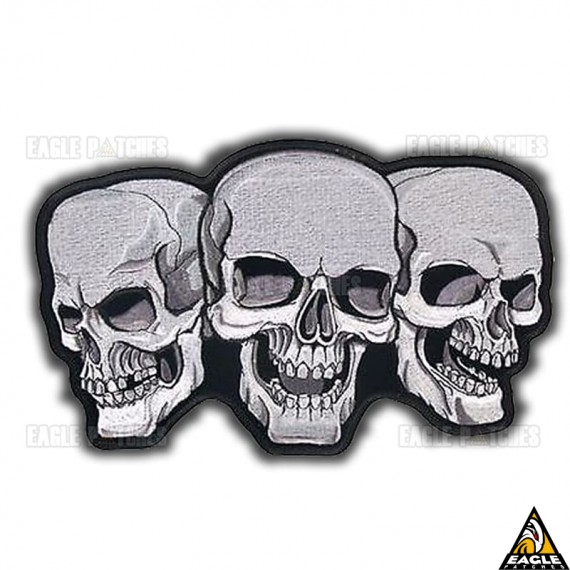 Patch Bordado 3 Caveiras