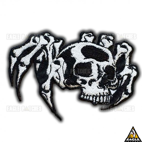 Patch Bordado Aranha Esqueleto
