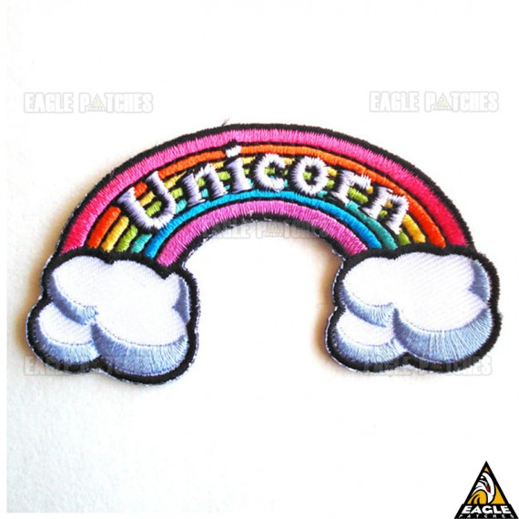 Patch Bordado Arco-ìris Unicorn