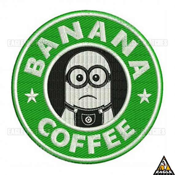 Patch Bordado Banana Coffee | Minion