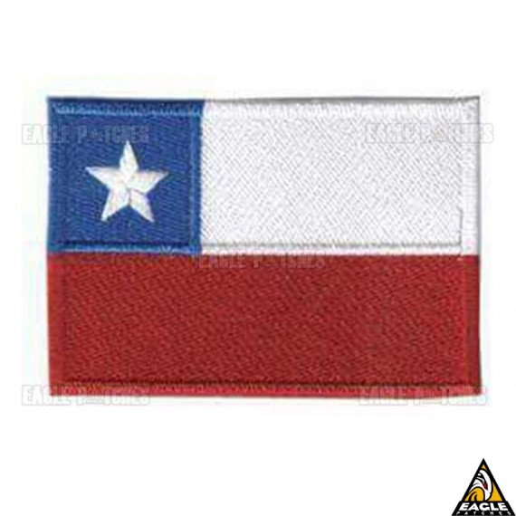 Patch Bordado Bandeira Chile