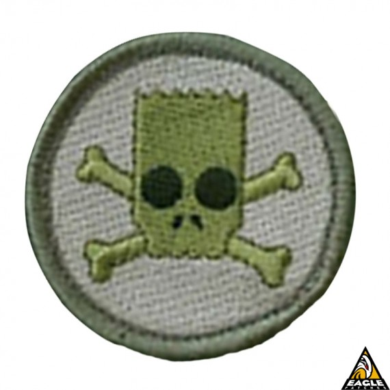 Patch Bordado Bart Skull