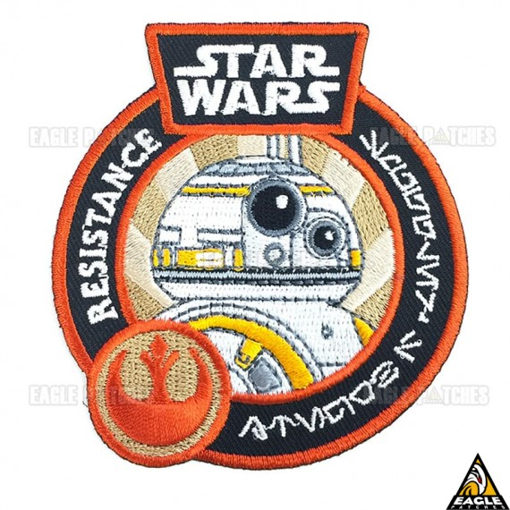 Patch Bordado BB-8 The Resistence Star Wars