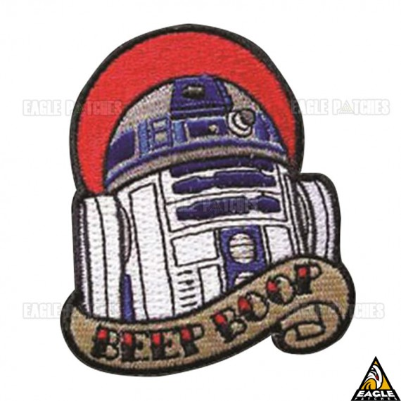 Patch Bordado BEEP BOOP Star Wars R2D2