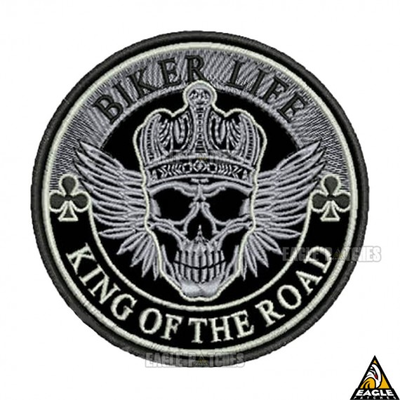Patch bordado Biker Life King of the Road