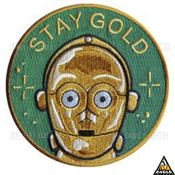 Patch Bordado C3PO Stay Gold - Star Wars