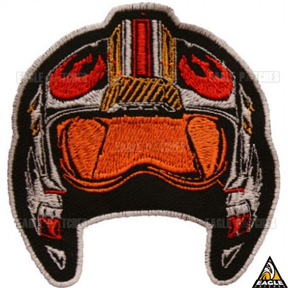 Patch Bordado capacete piloto nave X-Wing Star Wars