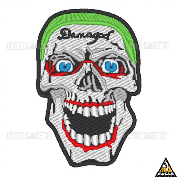 Patch Bordado Caveira Coringa