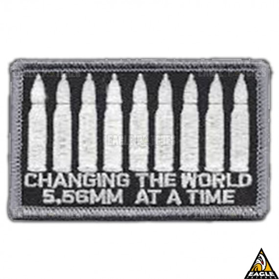 Patch Bordado Changing the World 5,56mm at a Time