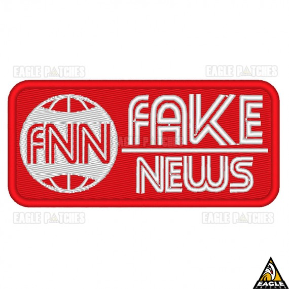 Patch Bordado Fake News