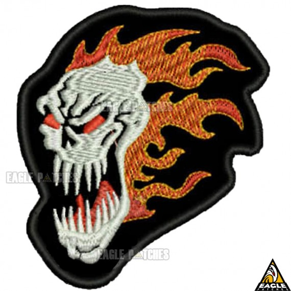 Patch bordado Head Fire Skull