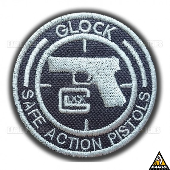 Patch Bordado Glock Safe Action