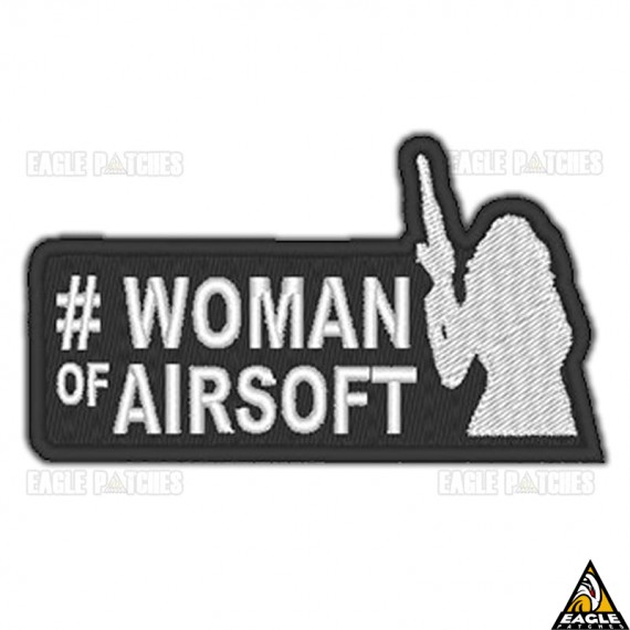 Patch Bordado #Woman of Airsoft Verde