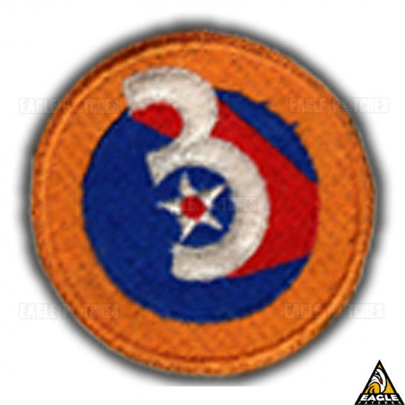 Patch Bordado WWII Army Air Force 3rd Division 3 Star Red