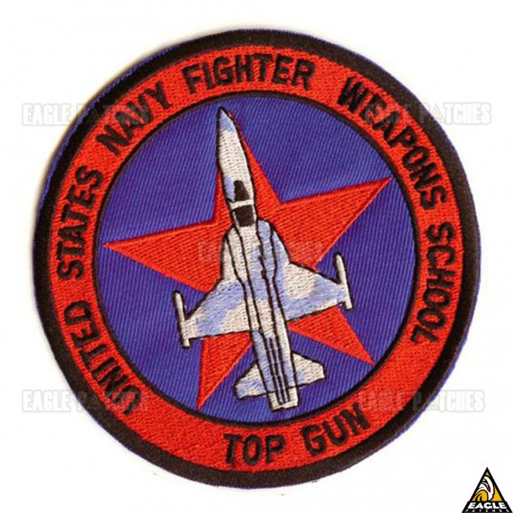 Patch Bordado Top Gun - United States Navy Fighter Weapons School