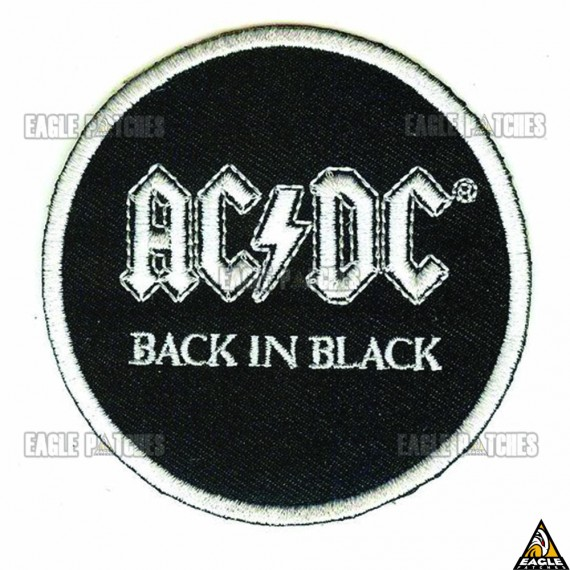 Patch  Bordados AC DC - Back in Black