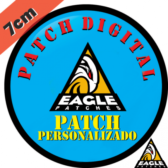 Patch Digital Personalizado Formato Redondo 7 cm