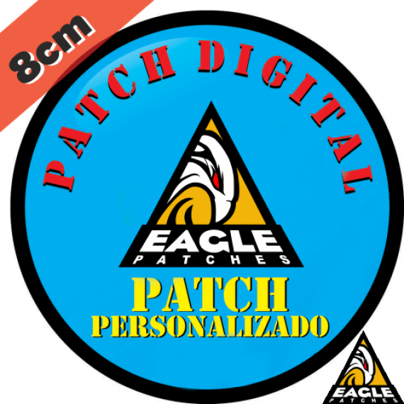 Patch Digital Personalizado Formato Redondo 8 cm