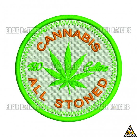 Patch  Bordado Cannabis All Stoned