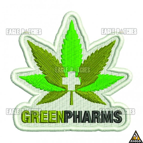 Patch  Bordado Grenn Pharms