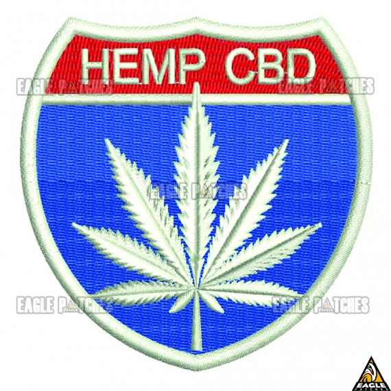 Patch  Bordado HEMP CBD