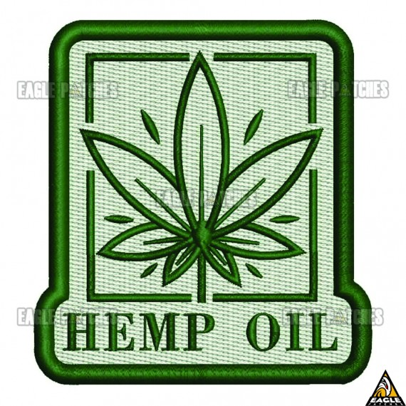 Patch  Bordado Hemp Oil
