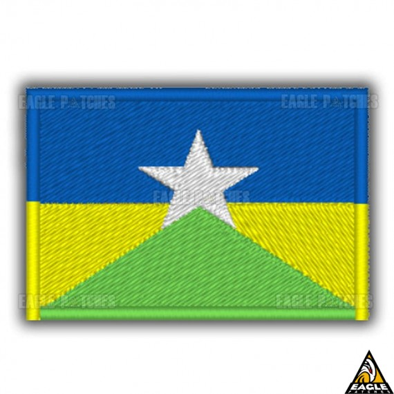 Patch Bordado Bandeira de Rondonia