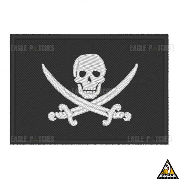 Patch Bordado Jolly Roger Seals  - Bandeira Pirata
