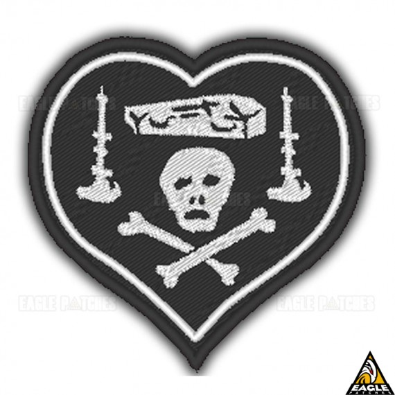 Patch Bordado WWI Black Heart Nungesser - O Cavaleiro da Morte