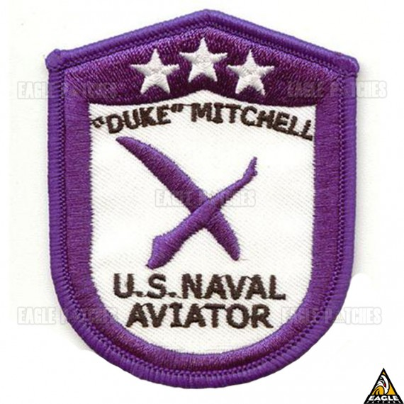 Patch Bordado Top Gun - Duke Mitchell U.S.Naval Aviator