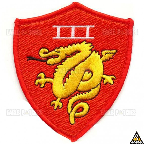 Patch Bordado Top Gun -  3RD USMC AMPHIBIOUS G1