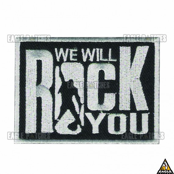 Patch Bordado Queen - We Will Rock