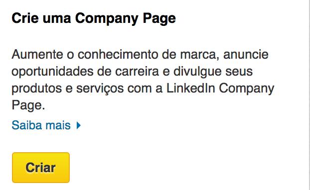 Como anunciar no LinkedIn? Segunda tela para criação de conta corporativa