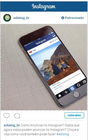 Exemplo de anúncio - Passo a passo de como anunciar no Instagram