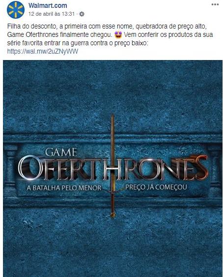 Walmart post Game of Thrones