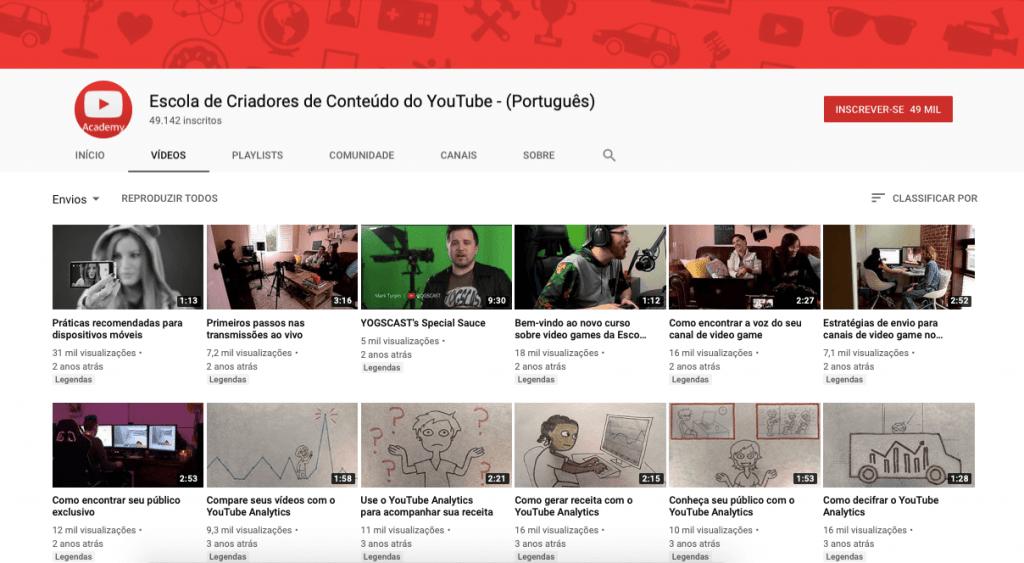 cursos de youtube