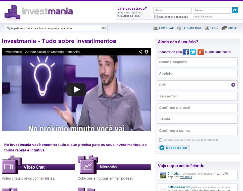 redes sociais para investidores