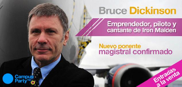 Uma das grandes atrações da CPBR7 é Bruce Dickinson