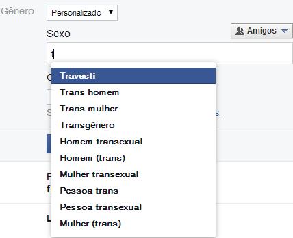 """Além de """"homem"""" e """"mulher"""". Facebook adiciona opções para usuários definirem identidade de gênero."""